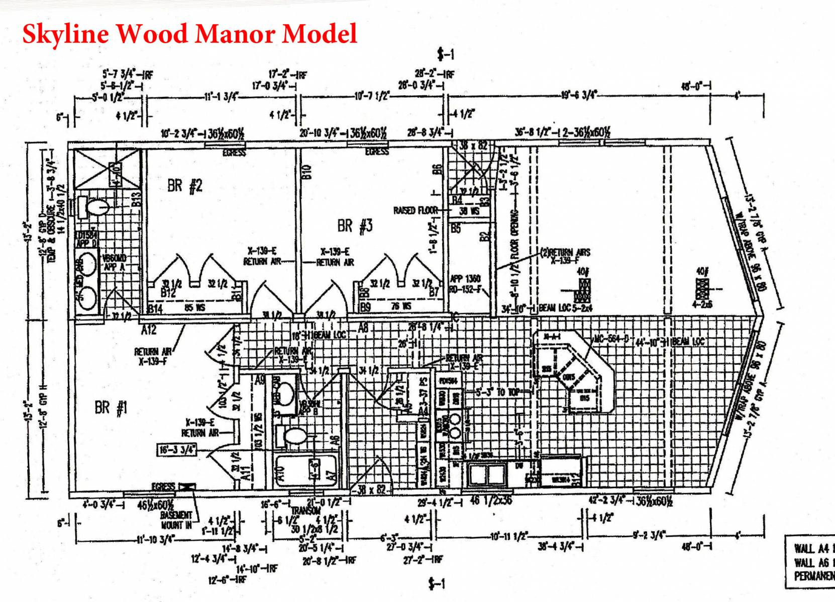 Skyline Wood Manor Modular or Manufactured Home